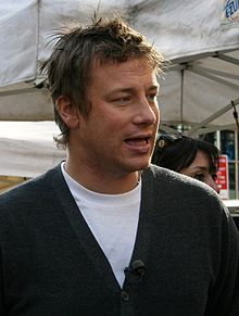 Chef Jamie Oliver Cooking for the poor